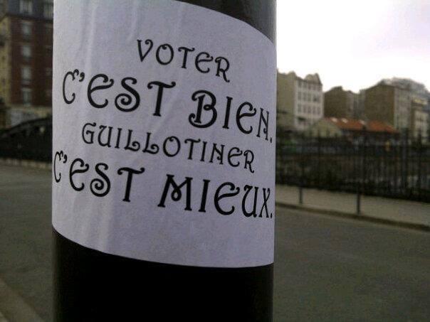 Voter, guillotiner