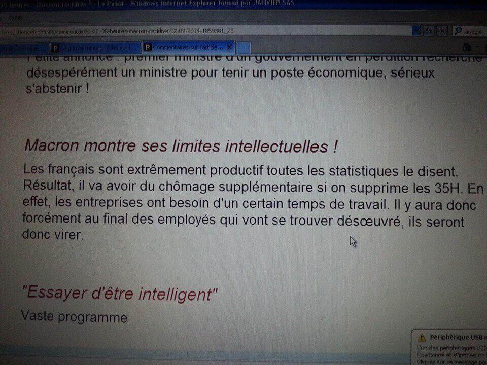 Macron montre ses limites intellectuelles
