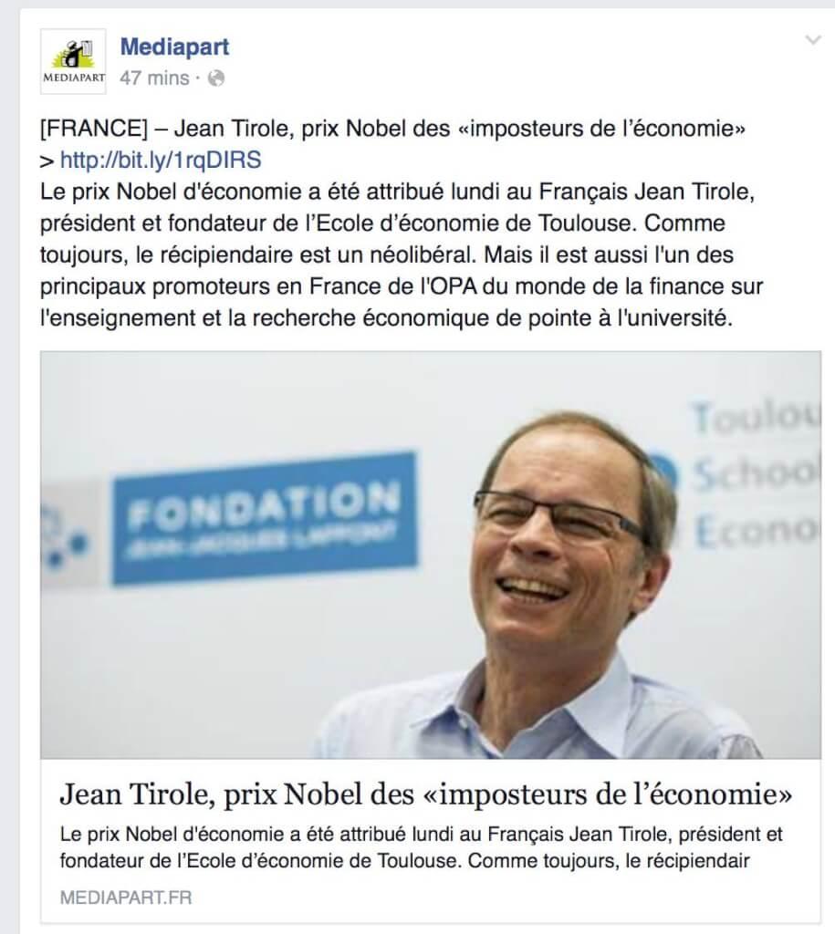 Jean Tirole, néolibéral